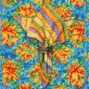 Bright Multi Colored Striped Cloth Napkin