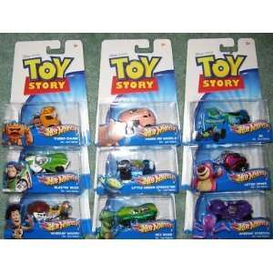 Toy Story 3 Hot Wheels Complete 9 Set   Plus 2 Bonus Cars Rocky Road