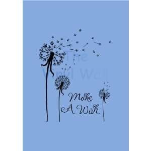Make a Wish Dandelion Flower Wall Art Decor Decal Sticker Extra Large