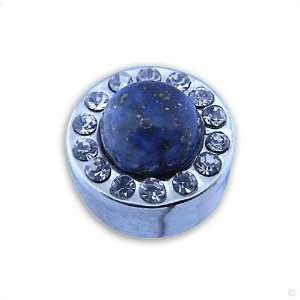 Ring of Change Crown #1115 Lapis and Circon, stainl. steel, lord rings