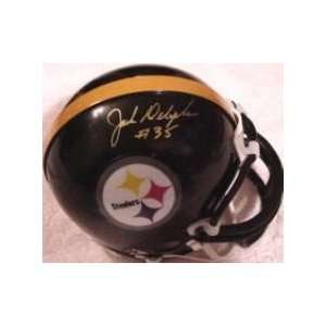 Hand Signed Pittsburgh Steelers Football Mini Helmet