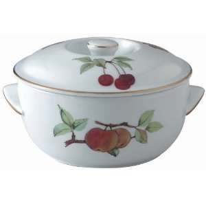 Royal Worcester Evesham Gold Round Covered Deep Dish
