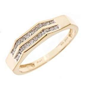 1/4 CT. T.W. Diamond Ladies Wedding Band 14K Yellow Gold