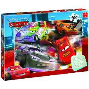 Jumbo Disney Cars Glow in the Dark 100 Piece Jigsaw Puzzle