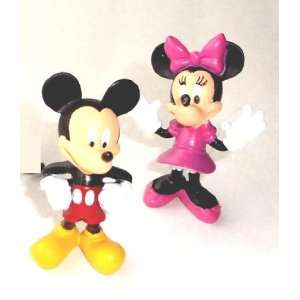 Disney Mickey Mouse Figurines Set of 2 Mickey & Minnie Mouse : Toys