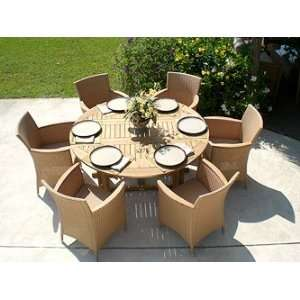Royal Teak Drop Leaf Round Dining Table: 5ft or 6ft: Patio