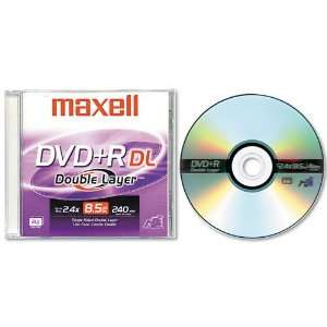 Maxell Products   Maxell   Dual Layer DVD+R Disc, 8.5GB, 2