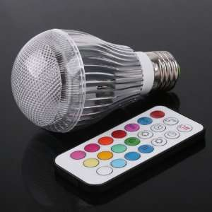 Colorful LED RGB 9W E27 Light Bulb Lamp with Remote