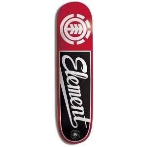 Element Skateboards HARDBALL RED/BLACK Skateboard Deck 7.5