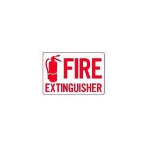 FIRE EXTINGUISHER 10x14 Heavy Duty Plastic Sign