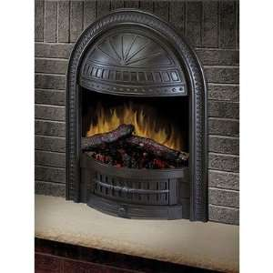 Deluxe Electric Fireplace Insert with Cast Hooded Trim