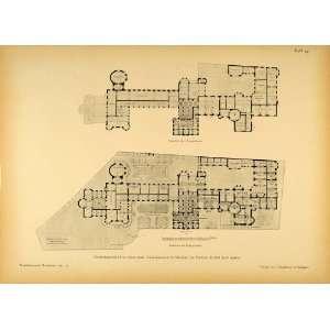 Architecture Floor Plans   Original Halftone Print