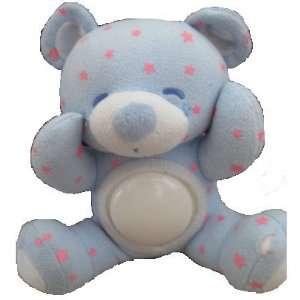 Ganz Belly Brights Light Up Bear   Blue Baby