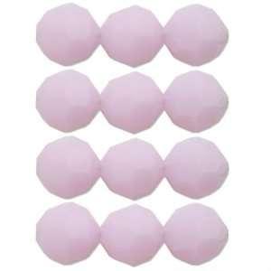 12 Rose Alabaster Round Swarovski Crystal Beads 6mm New