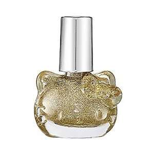 Hello Kitty Nail Polish Gold Sparkle   opaque gold with