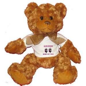 GOLDEN RETRIEVER WOMANS BEST FRIEND Plush Teddy Bear with