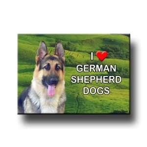 German Shepherd Dog I Love GSDs Fridge Magnet Everything