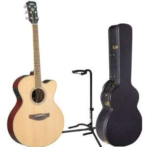 Body Acoustic Electric Guitar w/HCAG1 Hardshell Case & On Stage Stand