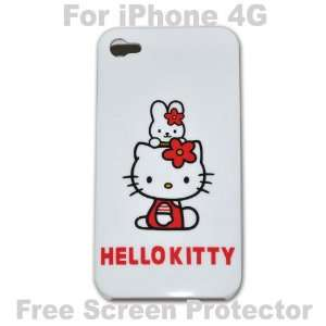 Hello Kitty Case Hard Case Cover for Iphone 4g   H + Free