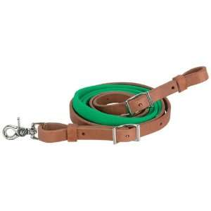 Barrel Rein for Horses, 3⁄4 in., Green  Sports