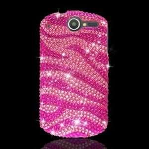 4g Full Cs Diamond Case Hot Pink Zebra 302 Cell Phones & Accessories