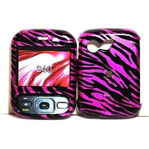 Hot Pink Zebra Strips Snap on Hard Skin Shell Cover Case