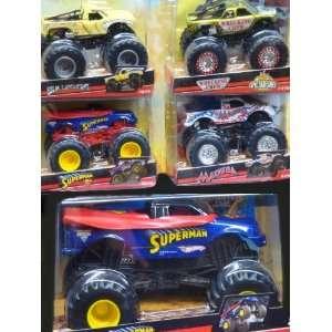 Hot Wheels Durable Diecast Monster Jam Pack Superman 1/24
