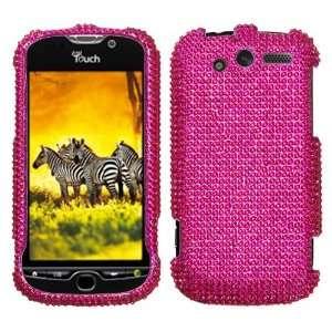 HTC Mytouch 4G Hot Pink Full Diamond Bling Hard Case Cover