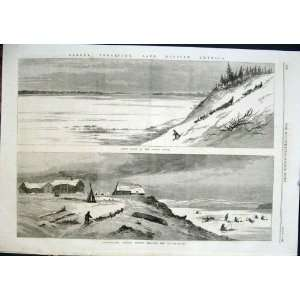 Yukon River Unalachleet Indian Fishing Ice Alaska 1868: Home & Kitchen