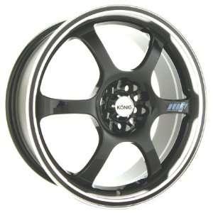 18x7.5 Konig Hurry (Gloss Black w/ Machined Lip) Wheels/Rims 4x114.3