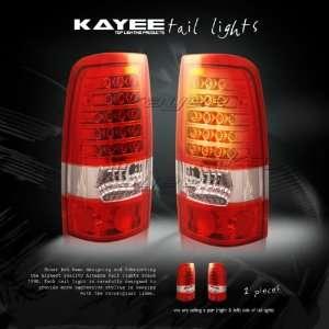 99 00 02 SILVERADO RED LED TAIL LIGHTS BRAKE LIGHT Automotive