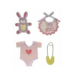 Karen Foster Stacked Stickers   4PK/Baby Girl