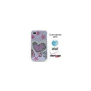 Apple iPhone 4G Full Diamond Case   Lavender with Silver
