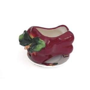 New Apple Flower Box Planter Holder with Plate Patio