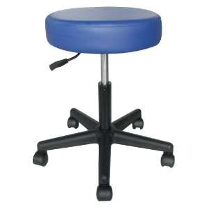 Health and Fitness Rolling Adjustable Stool for Massage Table, Blue