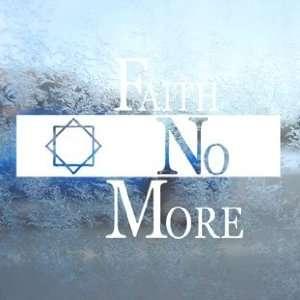 Faith No More White Decal Metal Rock Band Window White