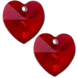 Siam AB Swarovski Crystal Heart Charm 6202 10mm