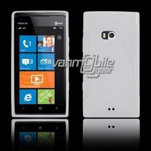 VMG Nokia Lumia 900 AT&T Skyline Design TPU Skin Case Cover   WHITE
