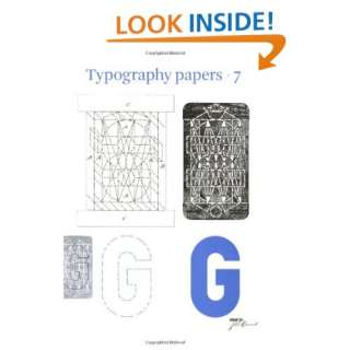 Typography Papers: Number 7 (vol. 7) (9780907259336