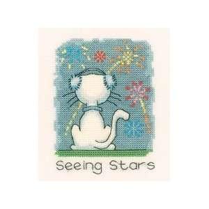 November Cat   Cross Stitch Pattern Arts, Crafts & Sewing