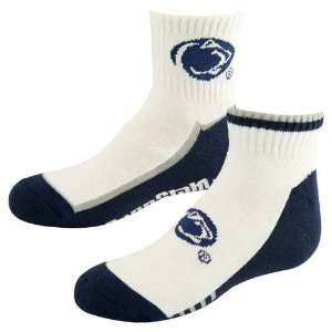 Penn State Nittany Lions Ladies White Navy Blue Two Pack Logo Socks