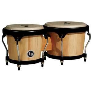 LP Aspire LPA601 AW Wood Bongos (Natural/Black): Musical
