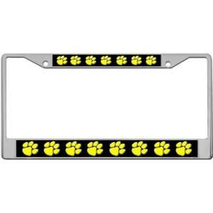 Dog Paws   Yellow Custom License Plate METAL Frame from