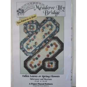 Flowers Table Runner and Placemats Quilting Patterns: Everything Else