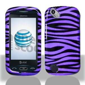 Pantech Laser P9050 Purple/Black Zebra Hard Case Snap on