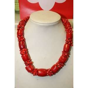 Mother Day Gift Jewelry Red Coral Necklace Arts, Crafts