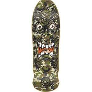 Santa Cruz Roskopp Face Camo Skateboard Deck   9.5x31 Re