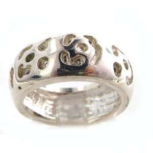 Large Heavy Solid Sterling Silver Hand Carved Jaguar Band Ring