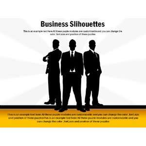 Powerpoint Slides  Powerpoint Templates on Business Silhouettes
