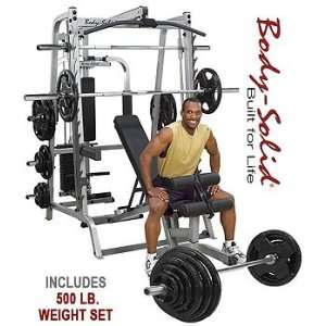 Body Solid Series 7 Smith Machine w/ 500 lb. Rubber Grip Olympic